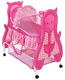 Fab N Funky Baby Cradle Pink - Kitty Design