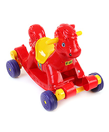 Fab N Funky Rock and Ride Rocking Horse - Red