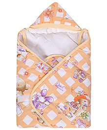 Tinycare Hooded Baby Wrapper Orange