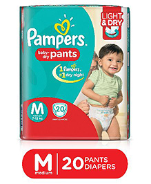 Pampers Pant Diapers Light And Dry Medium - 20 Pieces