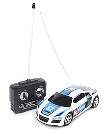Fab N Funky Remote Controlled Car - White And Blue