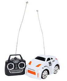 Fab N Funky Velocity Mini Racing Remote Control Car - White And Orange