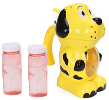 Fab N Funky Puppy Shape Bubble Gun - Yellow