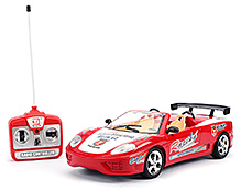 Fab N Funky Remote Control Car Racing Car Print - Red