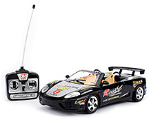 Fab N Funky Remote Control Car Racing Car Print - Black
