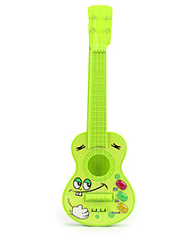Fab N Funky Guitar With Laughing Face - Green