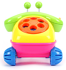 Fab N Funky Telephone Toy - Green And Yellow - 16 X 16 X 16 Cm