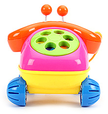 Fab N Funky Telephone Toy - Orange And Pink - 16 X 16 X 16 Cm