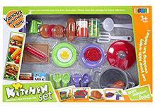 Fab N Funky Kitchen Set Multi Color - 27 Pieces
