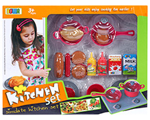 Fab N Funky Kitchen Set Multi Color - 35 Pieces