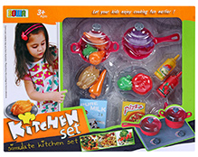 Fab N Funky Kitchen Set Multi Color - 34 Pieces