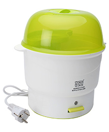 Mee Mee Bottle Sterilizer - White And Green - 28.2 X 23.2 X 23.2 Cm