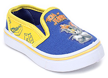 Tom and Jerry Canvas Slip On Shoes - Royal Blue And Yellow