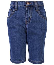 Babyhug Plain Bermuda Shorts - Black