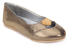 Tweety Belly Shoes With Heart Applique - Golden