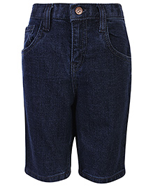 Babyhug Plain Bermuda Shorts - Blue