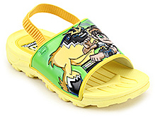 Ben 10 Slipper With Ben 10 Applique and Elasticated Strap - Yellow
