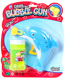 Fab N Funky Dolphin Shape Bubble Gun - Blue