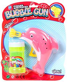 Fab N Funky Dolphin Shape Bubble Gun - Pink