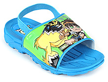 Ben 10 Graphic Slipper With Back Strap - Blue
