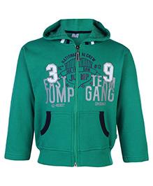 Cucumber Full Sleeves Hooded Sweatshirt - Green