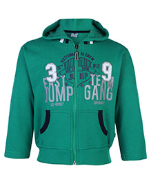Cucumber Full Sleeves Hooded Sweatshirt - Green