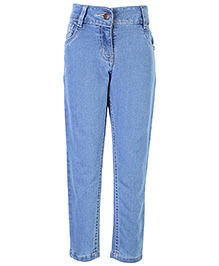 Babyhug Full Length Jeans - Light Blue