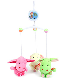 Fab N Funky Musical Cot Mobile Donkey Design - Multi Colour
