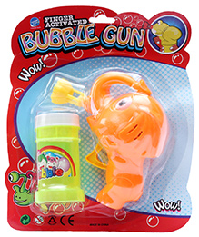 Fab N Funky Elephant Design Bubble Gun - Orange