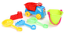 Fab N Funky Beach Toy Set Blue And Red - Set of 6
