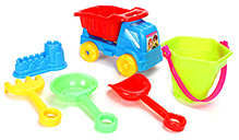 Fab N Funky Beach Toy Set Red And Blue - Set Of 6 - 3 Years