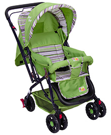 Mee Mee Stroller Cum Pram - Green And Black