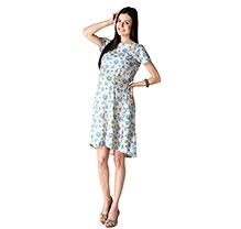 Morph Short Sleeves Maternity Dress Biege