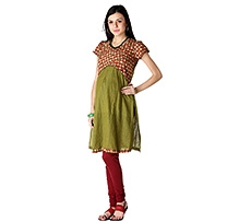 Morph Short Sleeves Maternity Kameez Green