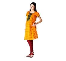 Morph Short Sleeves Maternity Kameez Yellow