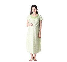 Morph Short Sleeves Nursing Gown Light Green