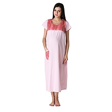 Morph Shorts Sleeves Night Gown Pink