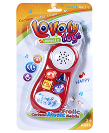 Fab N Funky Musical Mobile Phone - Red And White