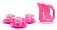Fab N Funky Tea Set Love Print - Pink