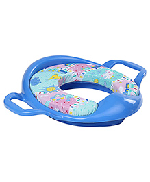 Babyhug Cushioned Potty Training Seat With Handle - Blue - 9 Months +