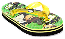 Ben 10 Flip-Flop With Ben 10 Print - Yellow and Green