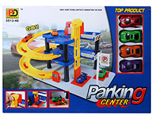 Fab N Funky Car Parking Lot Center - Multi Color