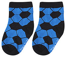 Cute Walk Ankle Length Socks Hexagon Print - Blue