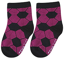 Cute Walk Ankle Length Socks Hexagon Print - Fuchsia