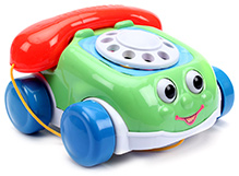 Fab N Funky Funny Telephone Car Design - Red And Green