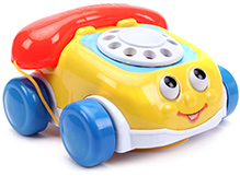 Fab N Funky Funny Telephone Car Design - Red And Yellow