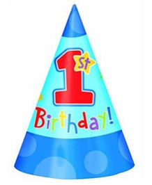 Wanna Party Hats Hugs & Stitches Birthday Cone Hat - Blue