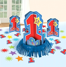 Wanna Party Birthday Decoration Kit - Blue And Red