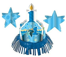 Wanna Party Birthday Table Decoration Kit - Blue