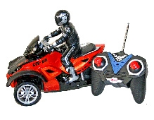 Adraxx Super Stylish RC Adventure Tri Wheel Bike Toy